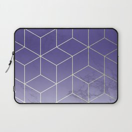 Geometric Marble Ultraviolet Purple Gold Laptop Sleeve