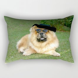 dog chow chow01 Rectangular Pillow