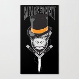Savage Society: Monocle Monkey Canvas Print