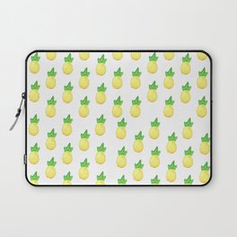 Tropical watercolor green yellow hand painted pineapple Laptop Sleeve