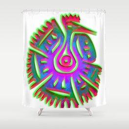 aztec peacock Shower Curtain