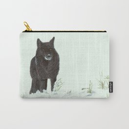 Wolf's snow Carry-All Pouch
