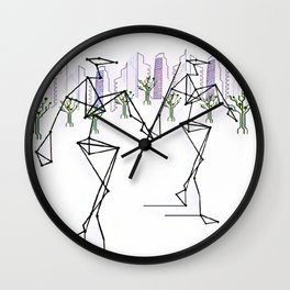 Brave Foo World Wall Clock