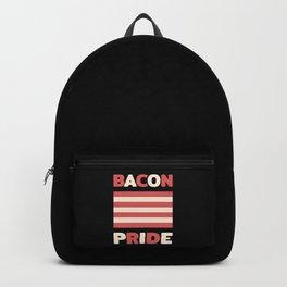 Bacon pride flag (Gay pride flag parody) Backpack