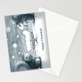 Lighting the Menorah Stationery Cards