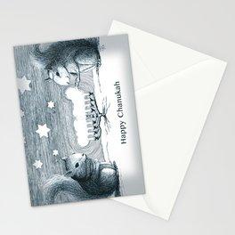 Lighting the Menorah Stationery Cards