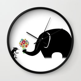 Have some Flowers! Wall Clock