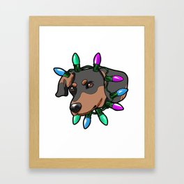 Dachshund Christmas Dachs Present Gift Framed Art Print