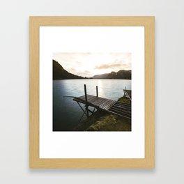 Salmon Sunrise Framed Art Print