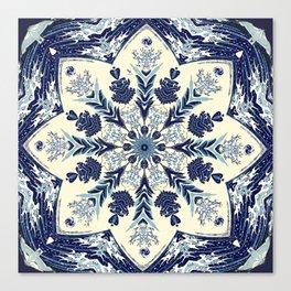 Deconstructed Waves Mandala Canvas Print