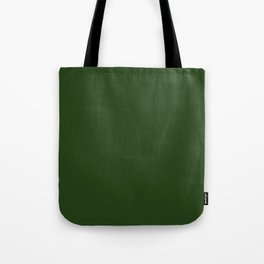 Solid Dark Forest Green Simple Solid Color All Over Print Tote Bag