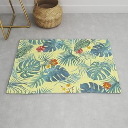 Palm Leaves Pattern 4 Rug