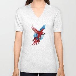 Ara Macaw Unisex V-Neck