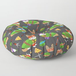 Teenage Mutant Corgis - pizza, cosplay, corgi, dog, dogs, costume, halloween, c omic, cartoon Floor Pillow