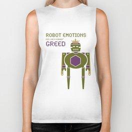 Greed Robot Emotions Biker Tank