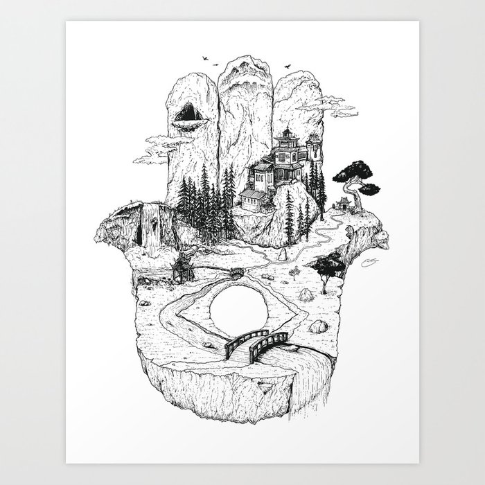 Hamsa in Nature Art Print