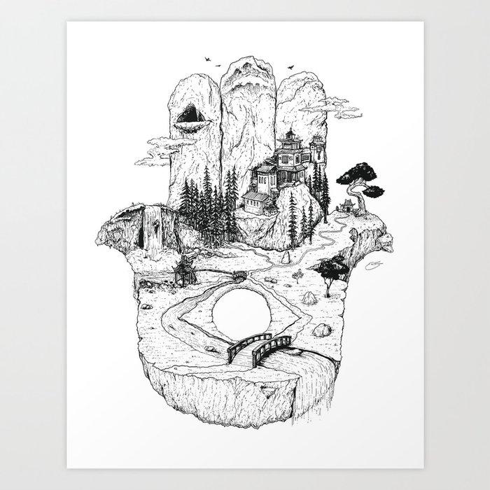 Hamsa in Nature Art Print