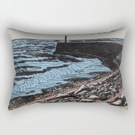Rocks at Tanybwlch Beach, Aberystwyth Rectangular Pillow