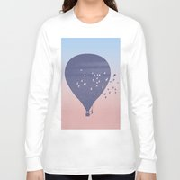 hot air balloon Long Sleeve T-shirts featuring Hot Air Balloon (P) by HeyAle!