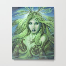 Kelp Nymph by BAXA Metal Print