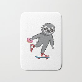 Skater Sloth Bath Mat