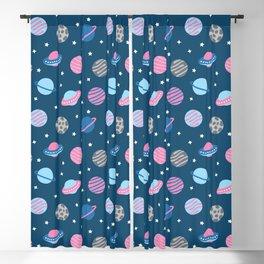 Universe & Planets Pattern Blackout Curtain
