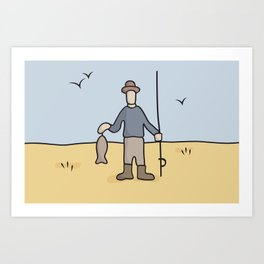 Beavid and Butthead Fisherman picture Art Print