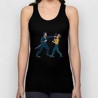 Abe Lincoln VS Captain Kirk Unisex Tank Top