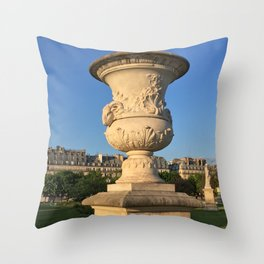 Golden Hour in Paris Throw Pillow