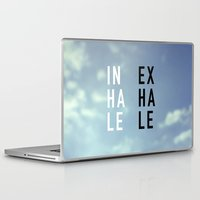 2pac Laptop & iPad Skins featuring Inhale Exhale by Text Guy