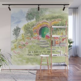 Hole in the Ground Green Door New Zealand Wall Mural