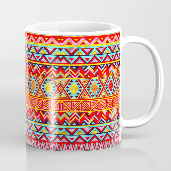 India Style Pattern Multicolor Coffee Mug By Maximilian