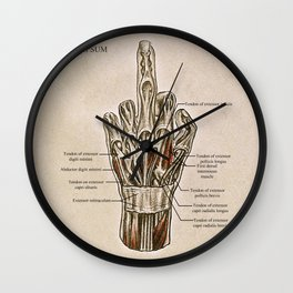 Fuck Your Anatomy Wall Clock