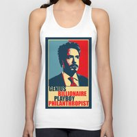 robert downey jr Tank Tops featuring Robert Downey Jr - The Legend by Mental Activity