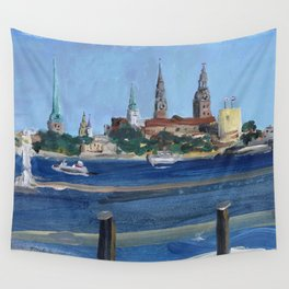 Pearl of the Baltics Wall Tapestry