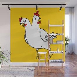 Chicken Dos Cabezas Wall Mural