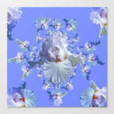 BLUE-WHITE IRIS ABSTRACT PATTERN Canvas Print