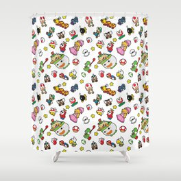 It's a really SUPER Mario pattern! Shower Curtain
