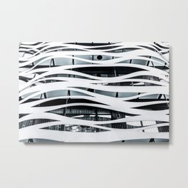 Modern Architecture Print, Minimal Building Poster, Toyo Ito Barcelona, Architecture Detail Wall Art Print, Wavy Lines, Home Decor, Futuristic Architecture Poster Metal Print