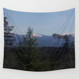 Snow Cap Mountains Wall Tapestry