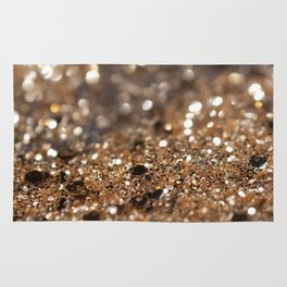 Gold Night Lady Glitter #1 #shiny #decor #art #society6 Rug