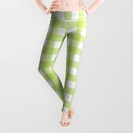 Green gingham pattern Leggings