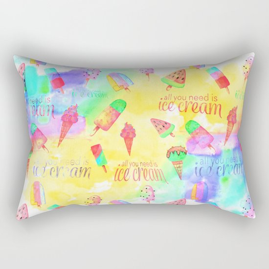 ALL YOU NEED IS ICECREAM - seamless summerpattern Rectangular Pillow