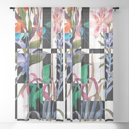 GEOMETRIC ABSTRACT PATTERN Sheer Curtain