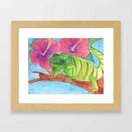 U wanna Iguana Framed Art Print
