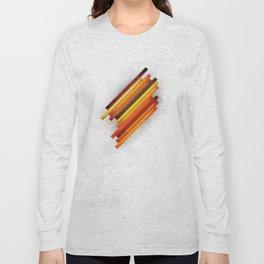 Vertical Grunge Long Sleeve T-shirt