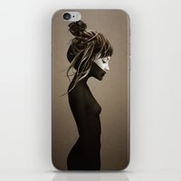 black iPhone & iPod Skins featuring This City by Ruben Ireland