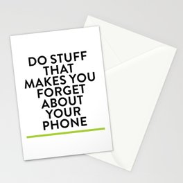 Forget About Your Phone Stationery Cards