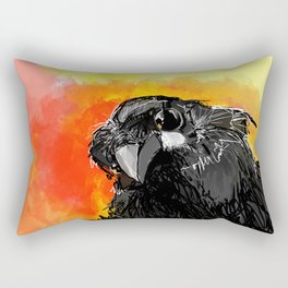Curious Crow Rectangular Pillow