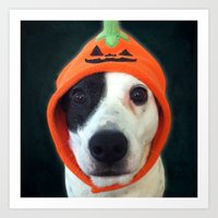 Pumpkin Dog Art Print